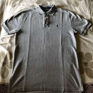 Gray Ralph Lauren Polo Shirt (Sg