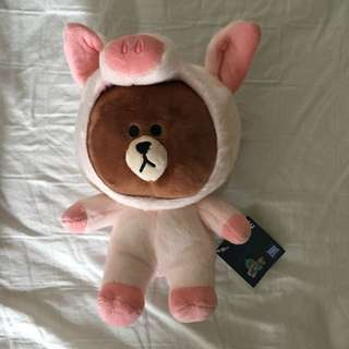 Line friends brown pig bear