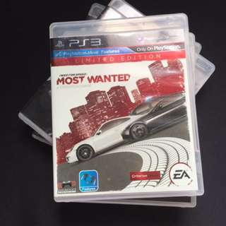 PS3 Game nfs most wanted