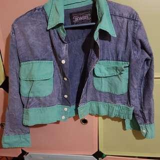 Soft denim cropped jacket