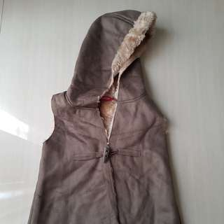 Fur winter coat for 2-4 years old