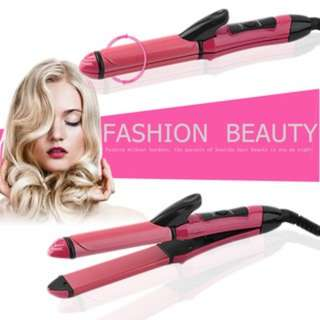 [PO99]Automatic Wet Dry Dual Use 2 In 1 Hair Straightener Curler