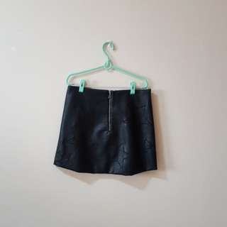 H&M Faux Leather Star Skirt