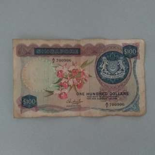 Singapore old $100