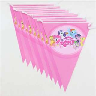 💕 MLP My Little Pony party Supplies - Flag banner bunting / birthday party deco