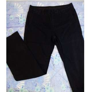 ARMANI EXCHANGE black coated jeans