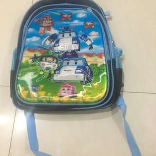 Poli car Boys school bag
