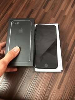 Iphone 7 256 Jet black mulus ex singapore