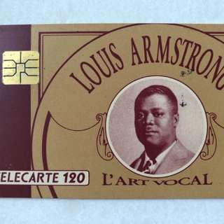 France Telecom Téléphone call card (to commensurate Louis Armstrong)