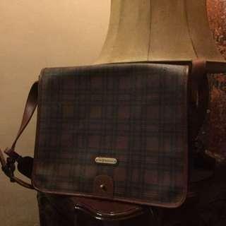 Vintage Ralph Lauren collection 80s messenger leather bag brown, RL , POLO RALPH LAUREN  Original