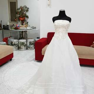 Baju pengantin wedding gown size s-m