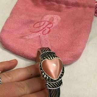 Like New Authentic Brighton Regina Pink Breast Cancer Bracelet Watch