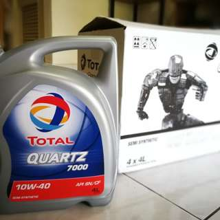 Total Quartz 7000 Semi-Synthetic 10W-40 Genuine Engine Oil (4 Liter)