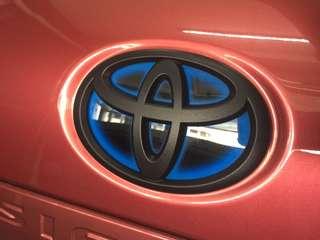 Toyota logo plasti dip