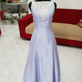 Dress pesta blue longdress size s-m