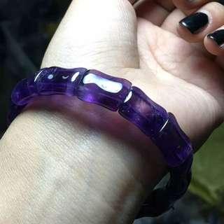 紫水晶竹節手鏈