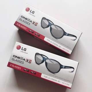 BNIB LG cinema 3D Glasses x 3