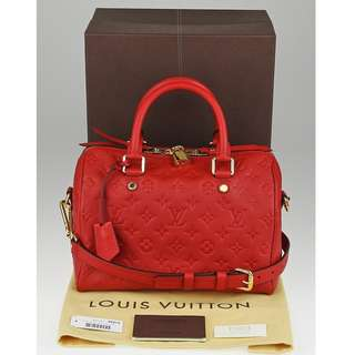 LOUIS VUITTON BANDOULIER 25 EMPRIENTE CHERRY RED