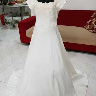 Baju pengantin wedding dress size xl