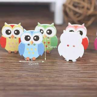 BN Owl Craft Big Buttons