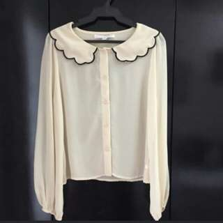 Kamiseta Beige Lonesleeves Top