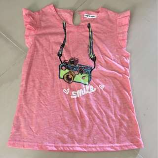 Girls T-shirt with Camera Smile