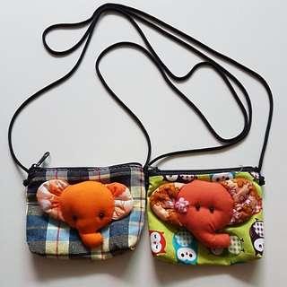 [Juniorcloset] FREE POSTAGE 🆕 Handmade 3D elephant sling bag