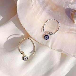 惡魔之眼925純銀短款耳環