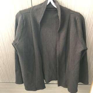 日系黑紋開胸外套