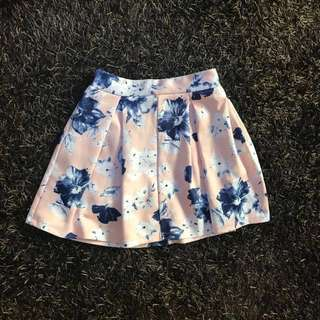 GTWFab Floral Pleated Skirt