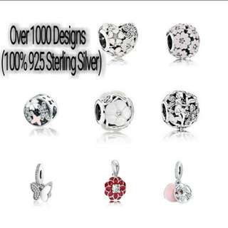 Over 1000 Designs (925 Sterling Silver Charms) To Choose From, Compatible With Pandora, T21
