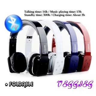 💯 VEGGIEG V8100 Foldable Bluetooth Hands Free Headset