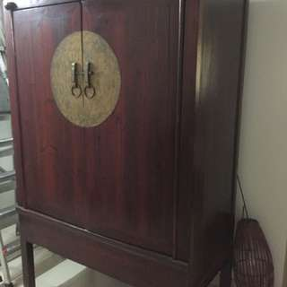 "Antique Cupboard -size: 43""L x 23""D x 68""H"