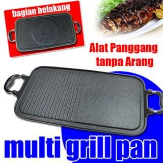 Alat BBQ Multi Grill Pan Panggangan Multiguna Alat Bakar Tanpa Areng