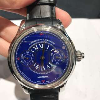 "Montblanc - Limited ""ONLY 1"" Edition Villeret Grand Feu Blue Enamel"