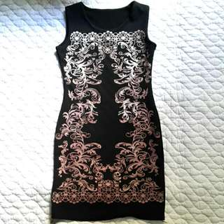 Black Dress With Prints