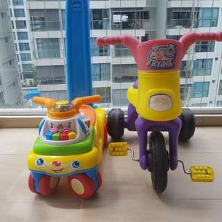 Baby Push Car and Tricycle