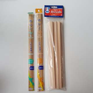 Square Dowels and Bamboo Strips for crafts