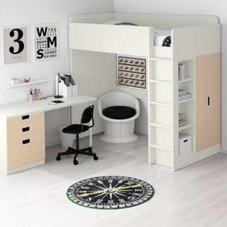 便宜賣‼️全新Ikea傢俱整組(床書桌櫃子)