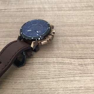 Swiss Army Leather Strap Watch