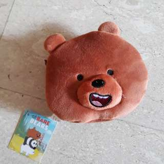 BNWT Authentuc We Bare Bears Pouch
