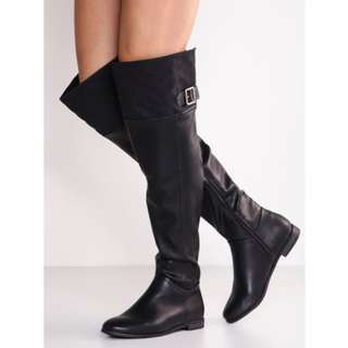 Over the Knee High Boots Black