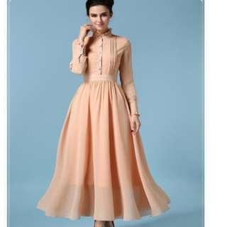 Bridesmaid Dress korean chiffon longdress