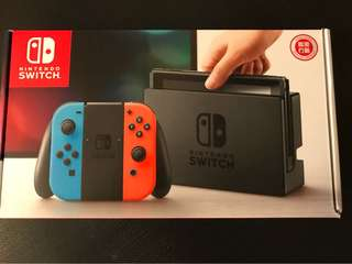 100% 全新原裝行貨 任天堂 Nintendo Switch