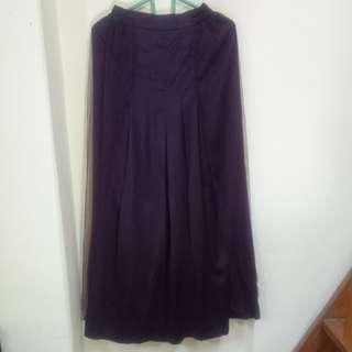 Rok panjang ungu