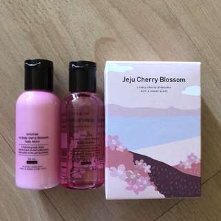 Innisfree cherry blossom body wash & lotion - travel size 60ml