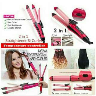 2 in 1 Hair and Curler