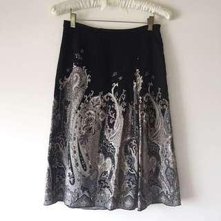 日本高質感品牌 薄毛料混紡長裙