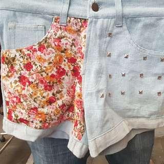 celana jeans pendek motif ukr 28