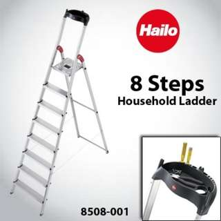 Hailo L60 Aluminium Safety Ladder 8 Steps (Pre Owned)